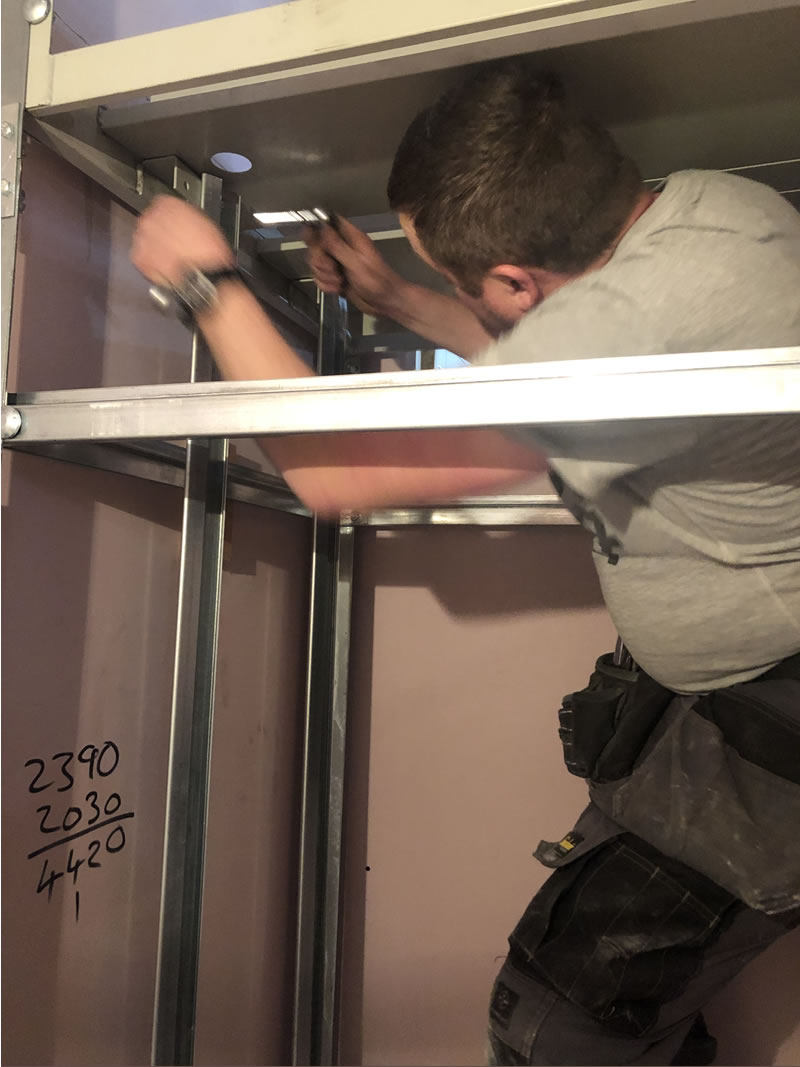 Our engineers can install a two floor Microlift in less than a day